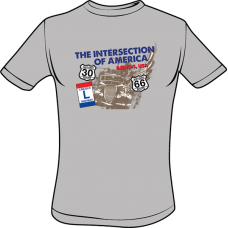 Intersection Of America T-Shirt (Sport Gray)