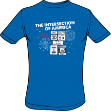 Intersection Of America T-Shirt (Royal Blue)