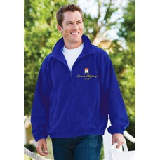 1/4 Zip Collar Embroidered Sweat Shirt