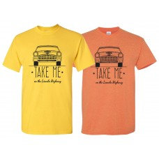 "Retro ""Take Me On The Lincoln Highway"" T-Shirt"