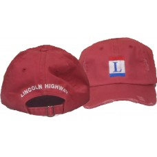Lincoln Highway Cap (Distressed Red)