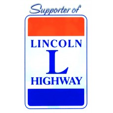 Static Window Sticker - Supporter of Lincoln Highway