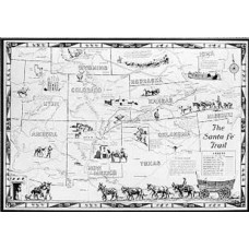 Santa Fe Trail Wall Map