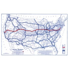 1924 Lincoln Highway Wall Map