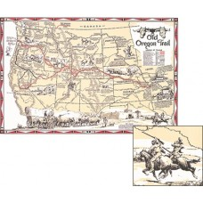 Old Oregon Trail Wall Map