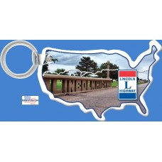 USA Vinyl Key Tag